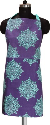 Sanjeev Kapoor Cotton Apron Free Size(Blue, Single Piece) at flipkart