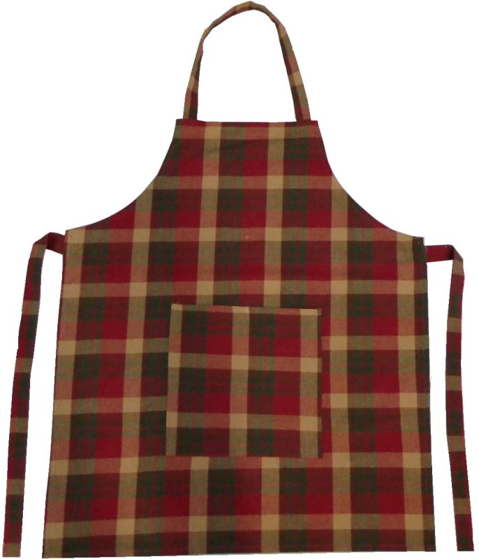 Adt Saral Cotton Apron Free Size(Red, Green, Single Piece)