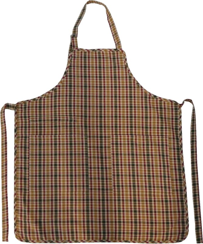 Adt Saral Cotton Apron Free Size(Multicolor, Single Piece)