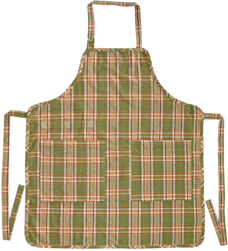 Adt Saral Cotton Apron Free Size(Multicolor)