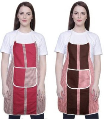loomsense Cotton Home Use Apron - Free Size(Multicolor, Pack of 2) at flipkart
