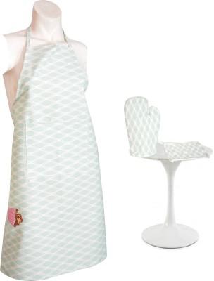 Flazee Home Trends Green Cotton Kitchen Linen Set