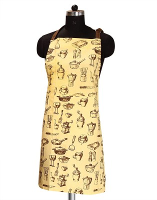 Sanjeev Kapoor Cotton Apron Free Size(Beige, Single Piece) at flipkart