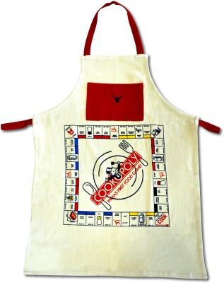 Gabi Cotton Apron Free Size(Beige, Red, Single Piece) at flipkart