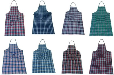 Valtellina Cotton Chef's Apron - Free Size(Multicolor, Pack of 8) at flipkart