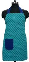 Wobbly Walk Cotton Apron Free Size(Green, Single Piece)