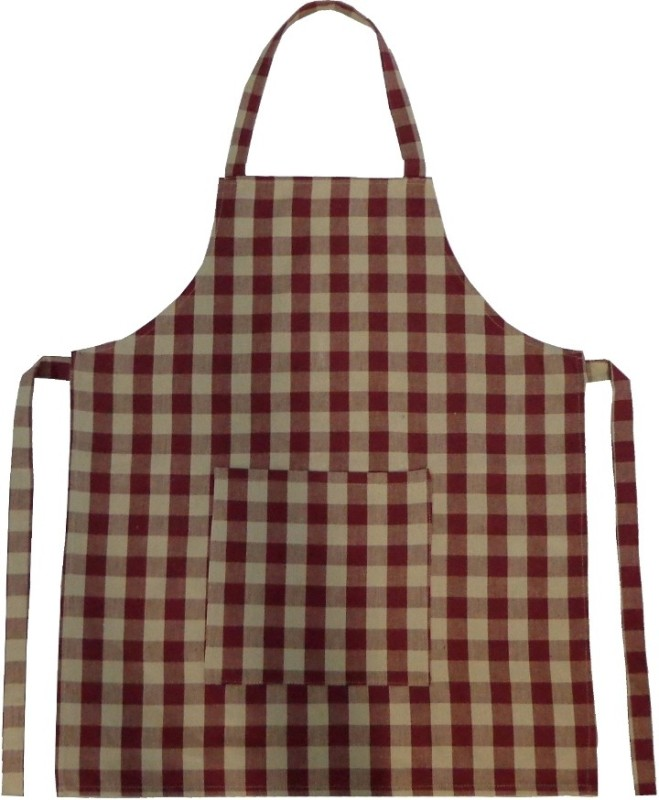 Adt Saral Cotton Apron Free Size(Red, Single Piece)