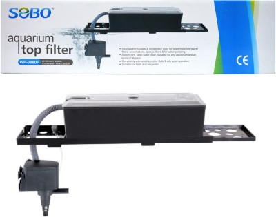 SOBO Aquarium Top Filter WP-3880F (Power--40W | F.Max-2500L/Hr) Power Aquarium Filter