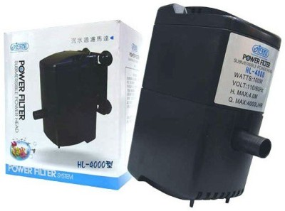 Ista Submersible Power Filter HL-4000 Power Aquarium Filter(Mechanical Filtration for Salt Water and Fresh Water)