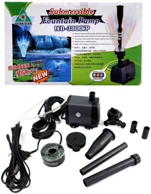 Asian Star Submersible Fountain Pump LED-3800FP | 5 Meter Wire Water Aquarium Pump
