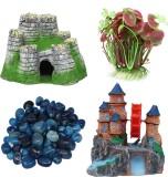 Jainsons Combo aquarium decoration items...