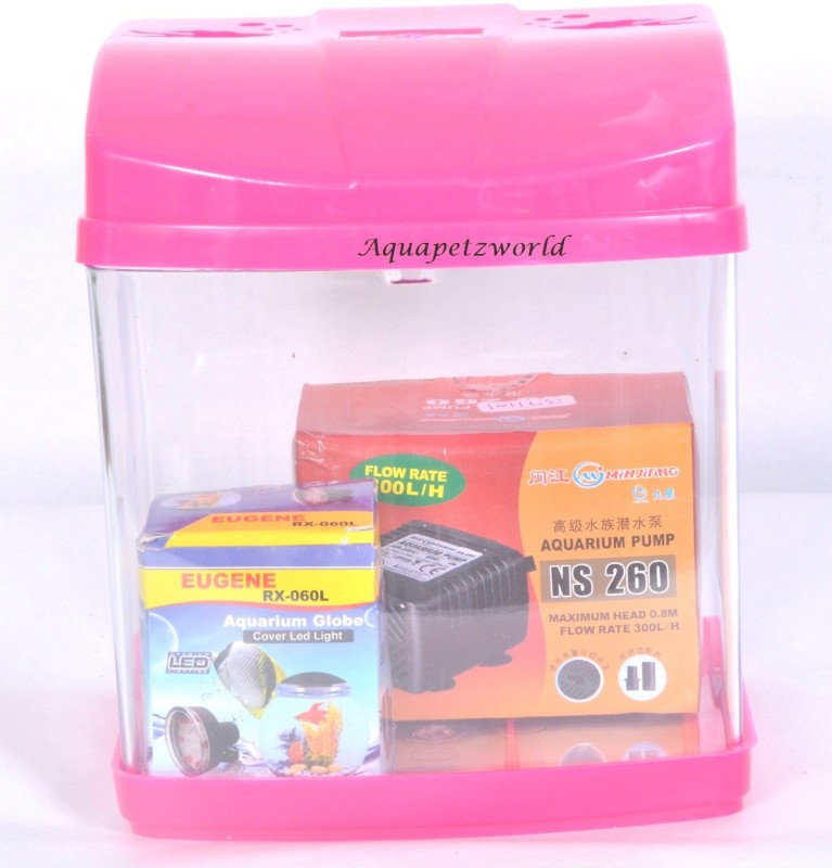 Aquapetzworld Betta Tank Cube Aquarium Tank(3 L)