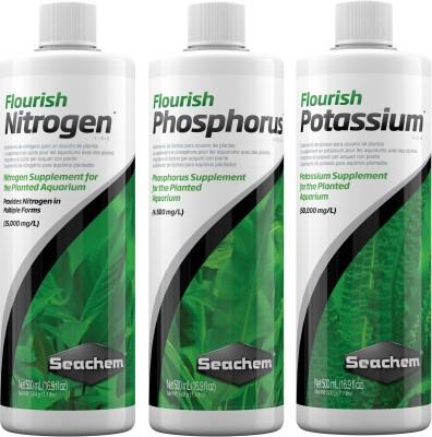 Seachem Plant Pack Enhancer NPK all in one package (Pack of 3 Bottle's | 500ml Each) Aquatic Plant Fertilizer(1500 ml)