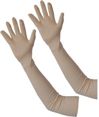 NGTONLINE Cotton Arm Sleeve For Men & Women(Free, Beige)