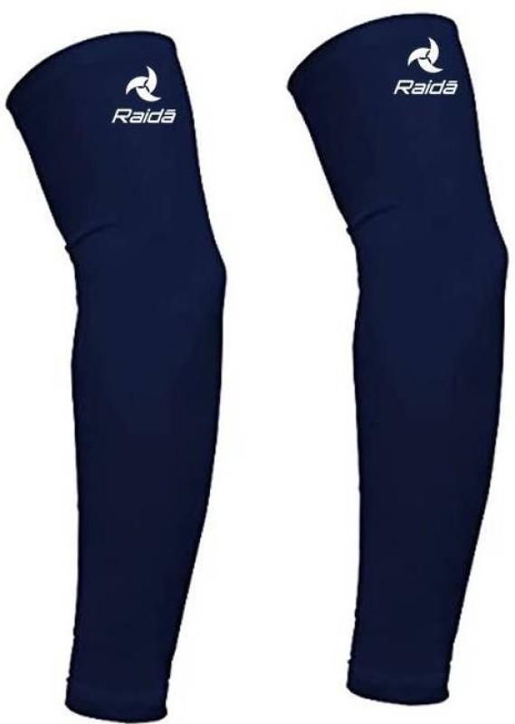 Raida Cotton Arm Sleeve For Men & Women(Free, Blue)