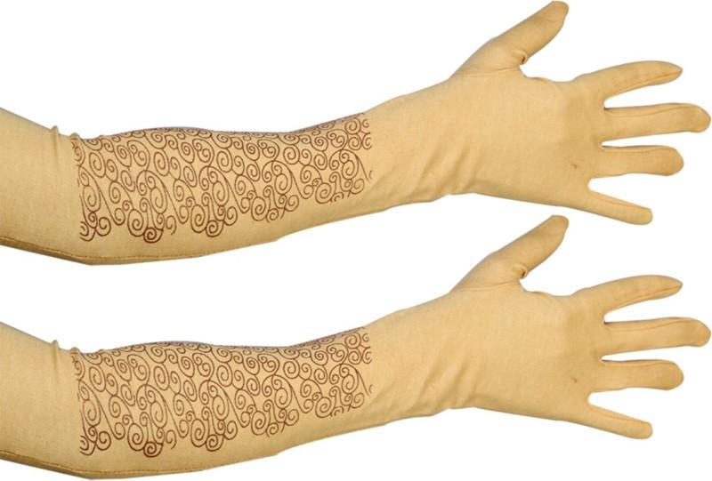 Gold Dust Cotton Arm Sleeve For Men & Women(L, Multicolor)