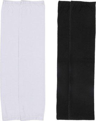Gumber GE_TUBE_W_BLK_2PC Cotton Arm Warmer