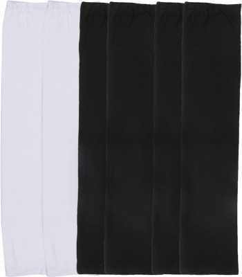 Gumber GE_TUBE_W_BLK_BLK_3PC Cotton Arm Warmer