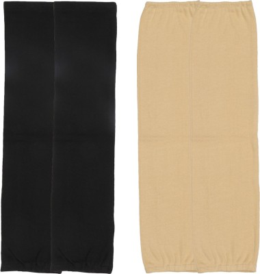 Gumber GE_TUBE_SKN_BLK_2PC Cotton Arm Warmer