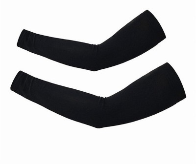 Attiva Sleeves Pair Free Size Nylon Arm Warmer(Black)