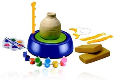 FiableCreations Pottery wheel & Clay set for Kids Art Clay