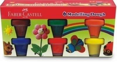 FABER CASTELL 6 MODELLING DOUGH Art Clay