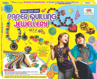 Happy Kidz Paper Quilling Jewellery Craft Toys