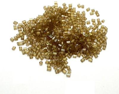 Jaunty Beadsnfashion Seed Bugles Beads Light Grey (100 Gm)