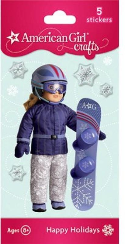 American Girl Snowboard Doll Bubble Stickers