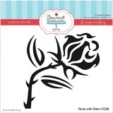 Gourmet Rubber Stamps Rose with Stem Ste...