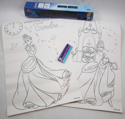 Disney 2 Coloring Posters With 3 Mini-Markers