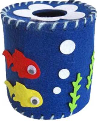Atanands Felt DIY Navy Blue Towel Tube