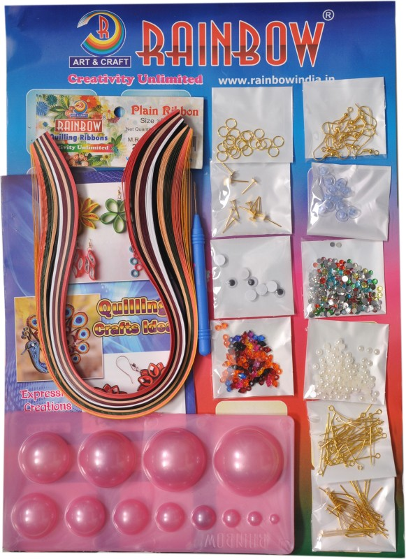 Rainbow Jewel Making Kit With Complete Accessories and Learning Book