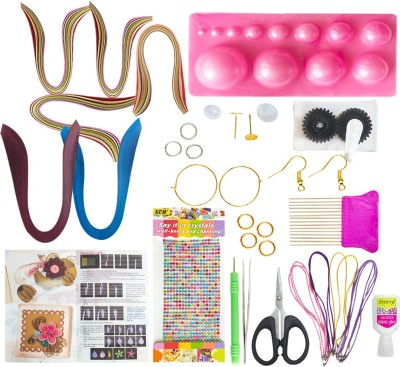 Vipra 37 Piece Quilling Jewellery Kit with 800 papers