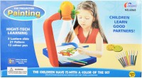 Just Toys The Painting Projector High Tech Learning Tool, 3 Lantern Slide With 21 Patterns And 12 Colour Pens