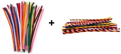 Atanands Combo Kit Of 40 Pcs Of Regular And Twisted Pipe Cleaners Craft Wire Sticks