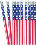 US Toy Patriotic Pencils 12 Count