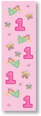1st Birthday Fun At One Girl Glitter Stickers