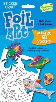 Peaceable Kingdom Foil Art Cool Stuff Sticker Craft Pack