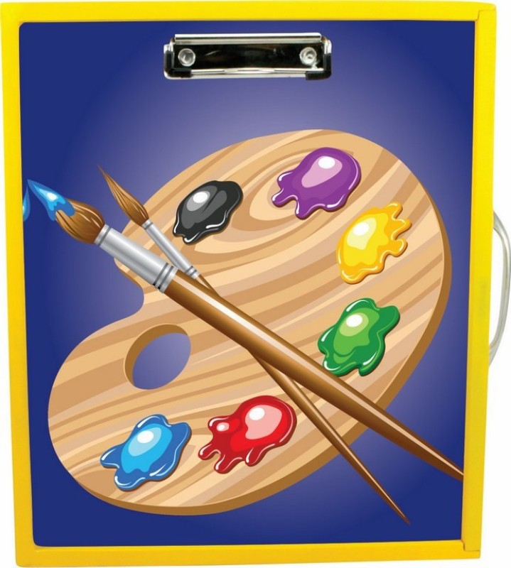 Enigmatic Woodworks Wooden Art Box -Art Theme1(Yellow)