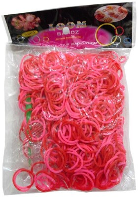 Shatchi 2 Tone Pink & Red 600 Loom Band Refill Kit Kids Arts Crafts Toys With S Clips & Hook, Birthday, Anniversary, Festival