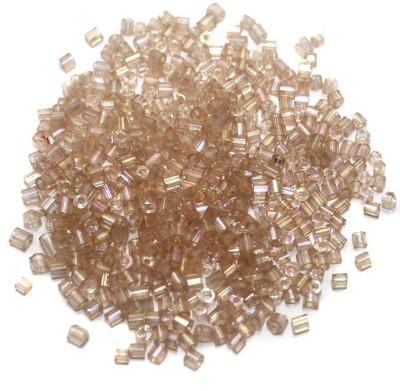 Jaunty Beadsnfashion 2 Cut Seed Bugles Beads Light Purple Rainbow (100 Gm)