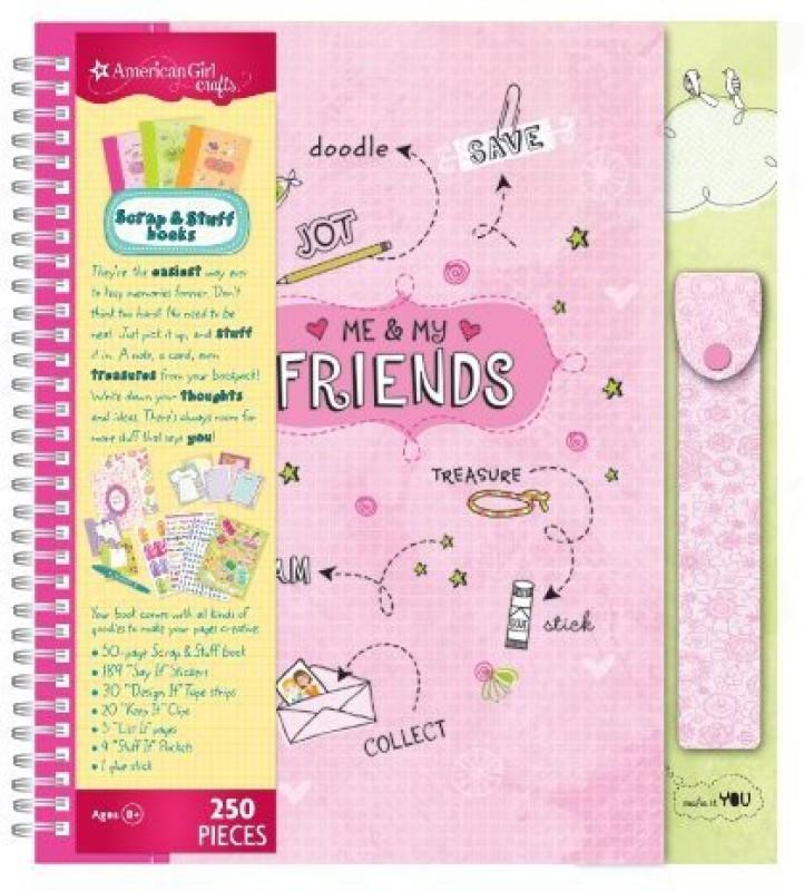 American Girl Crafts Scrap and Stuff Book Kit, Friends