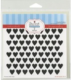 Gourmet Rubber Stamps Small Hearts Stenc...