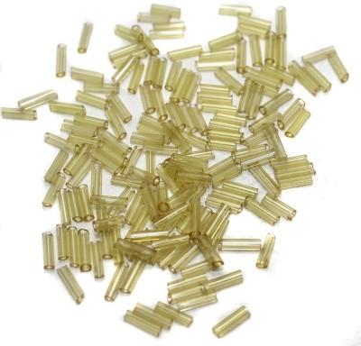 Jaunty Beadsnfashion Seed Bugles Beads Light Yellow (100 Gm)