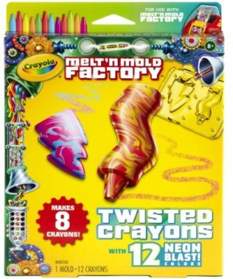 Crayola Melt ,N Mold Twisted Crayons Expansion Pack