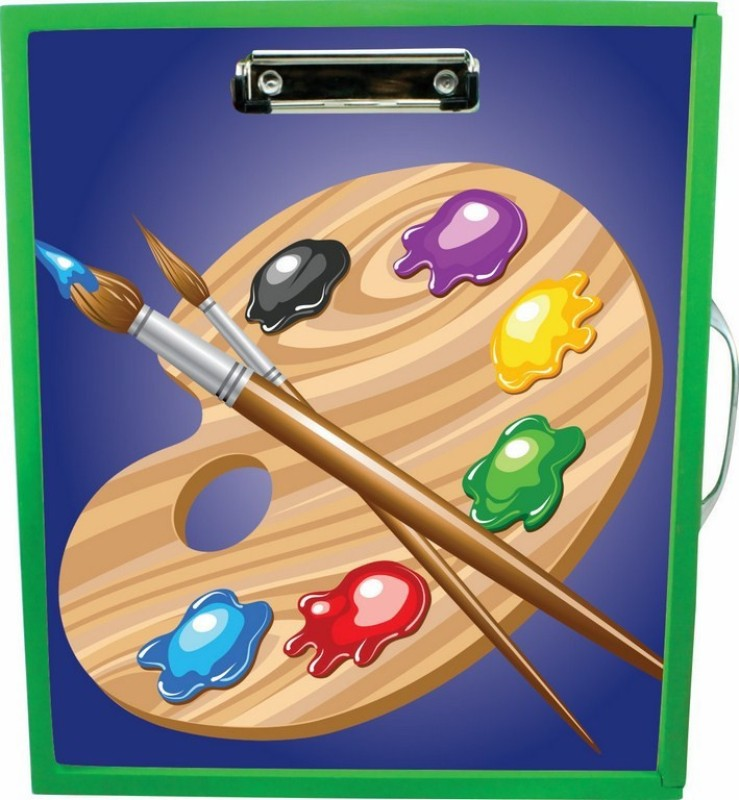 Enigmatic Woodworks Wooden Art Box - Art Theme1(Green)