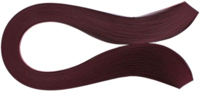 Tootpado 1000 Non-Metallic Quilling Paper Ribbons Strips (Maroon 5mm)