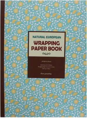 Tootpado Natural European Wrapping & Craft Paper Book - 16 Designs 32 Sheets, Size 22.5x30.5 cm - (32P-21401) For Gift and Scrapbooking