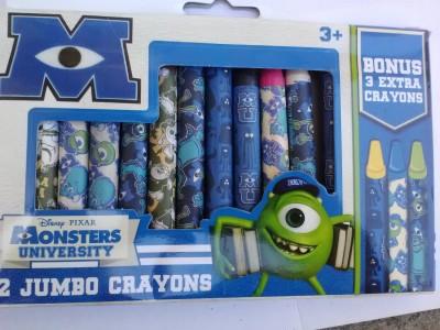 Disney Pixar Monsters University 12 Jumbo Crayons